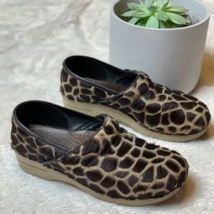 Dansko Animal Print Pony Hair Clogs